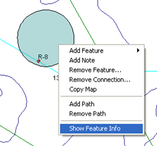 right-click feature info